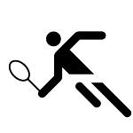 Logo Tennisspieler Schwarz